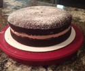 Randy's Red Wine Chocolate Layer Cake with Raspberry Buttercream